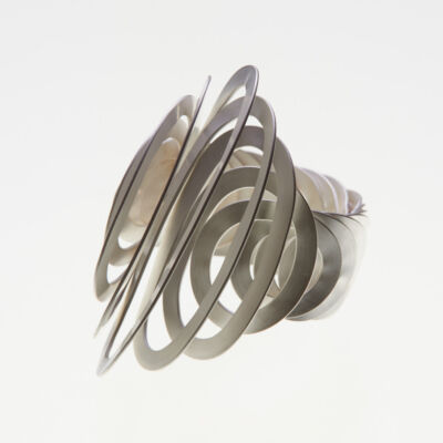 Spiral Shaped Silver Ring