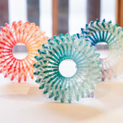 Colorfully Dyed Zip Tie Brooch