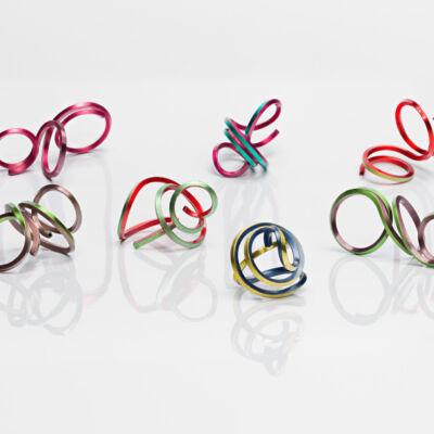 Colorful Brass Ceramic Coating Ring