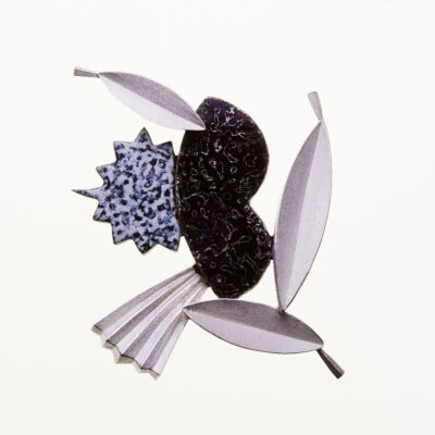 Effect of Memory Cloisonné Brooch
